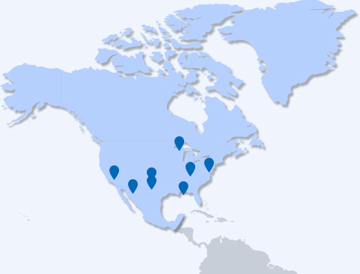 North America Branch map image