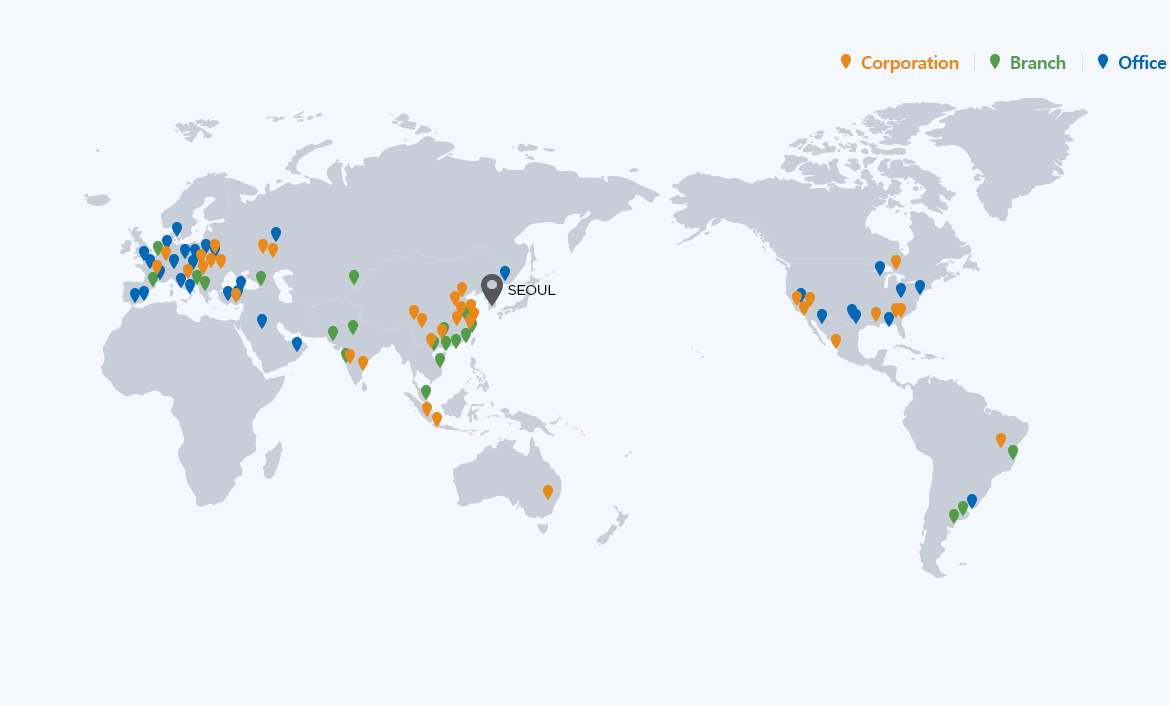 Global All Corporation, Branch, Office, map image